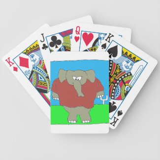 Defense Tough Elephant Bicycle Playing Cards