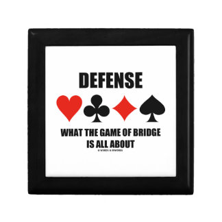 Defense What The Game Of Bridge Is All About Jewelry Box