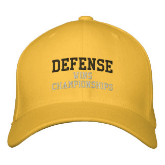 DEFENSE wins championships Embroidered Hats