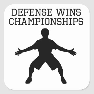 Defense Wins Championships Square Sticker
