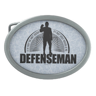 Defenseman Oval Belt Buckle