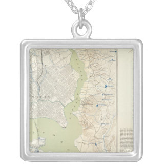 Defenses Washington Silver Plated Necklace