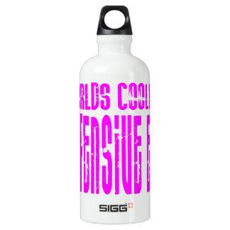 Defensive Ends Pink Worlds Coolest Defensive End Water Bottle