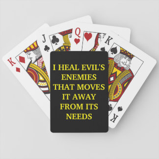 DEFENSIVE LOVE FROM THE LORD PLAYING CARDS