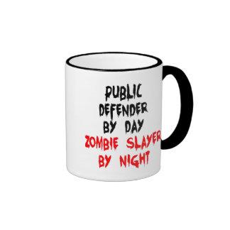 Defensor público del asesino del zombi taza de dos colores