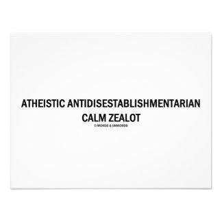 Defensor tranquilo ateo de Antidisestablishmentari Invitaciones Personales