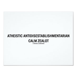 """Defensor tranquilo ateo de invitación 4.25"""" x 5.5"""""""