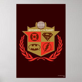 Defensores de la liga de justicia del planeta posters