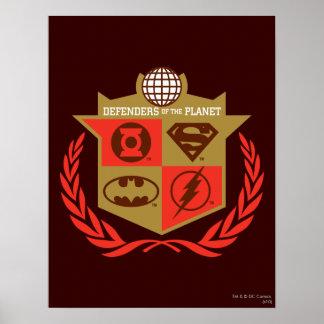 Defensores de la liga de justicia del planeta impresiones