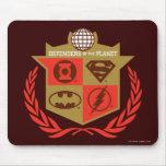 Defensores de la liga de justicia del planeta alfombrilla de raton