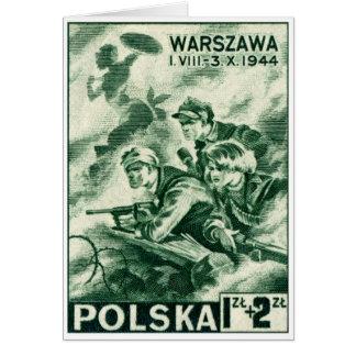 Defensores de WWII de Varsovia Tarjeta De Felicitación