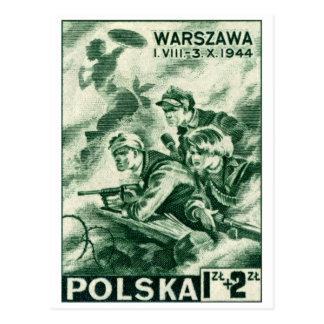 Defensores de WWII de Varsovia Tarjeta Postal