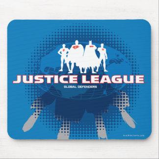 Defensores globales de la liga de justicia alfombrillas de ratones