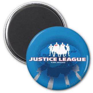 Defensores globales de la liga de justicia imán redondo 5 cm