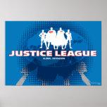 Defensores globales de la liga de justicia póster