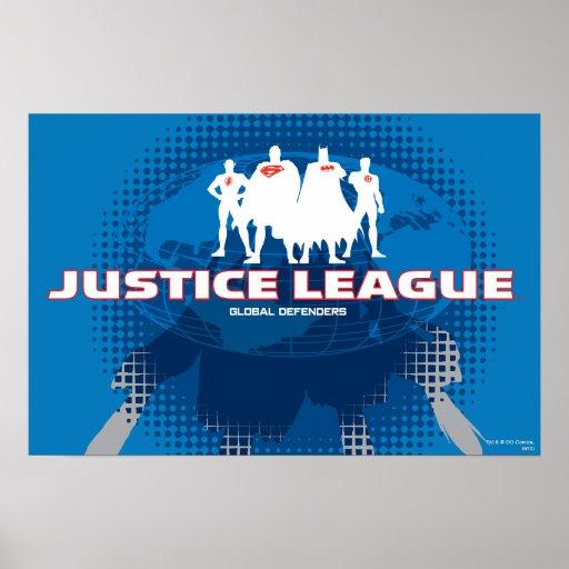 Defensores globales de la liga de justicia posters