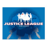 Defensores globales de la liga de justicia tarjetas postales