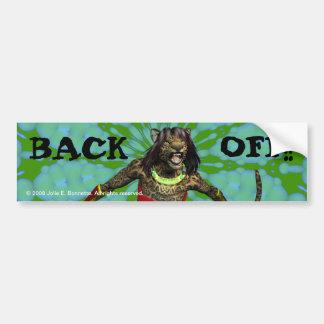 "Defiance ""Back Off"" Bumper Sticker"