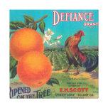 Defiance Orange LabelVenice Cove, CA Stretched Canvas Print