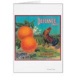 Defiance Orange LabelVenice Cove, CA Card