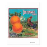 Defiance Orange LabelVenice Cove, CA Postcard