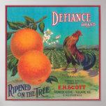 Defiance Orange LabelVenice Cove, CA Print