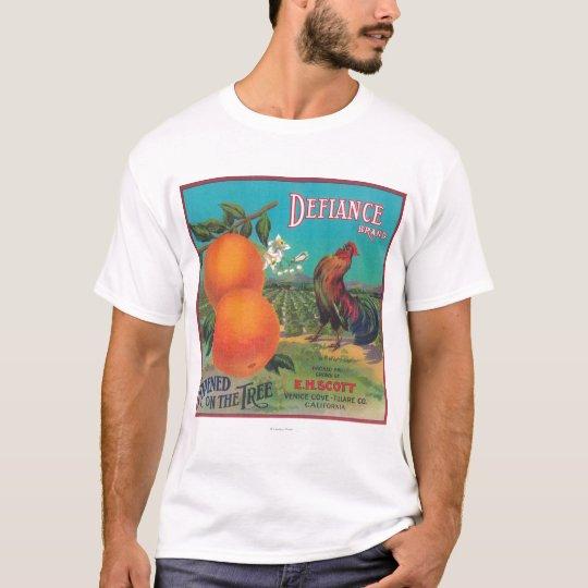 Defiance Orange LabelVenice Cove, CA T-Shirt