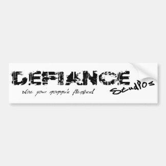 Defiance Studios Logo Bumper Sticker Car Bumper Sticker