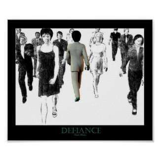 Defiance White Poster