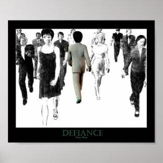Defiance White Poster
