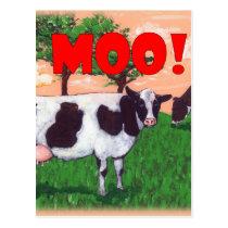 Defiant Cow Postcard