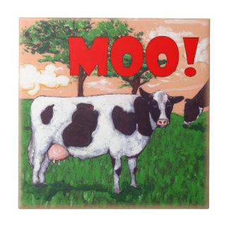 Defiant Cow Tile
