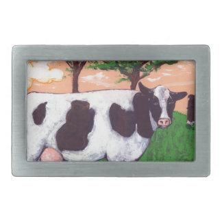 Defiant Dairy Cow Rectangular Belt Buckles