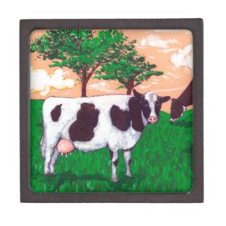 Defiant Dairy Cow Jewelry Box