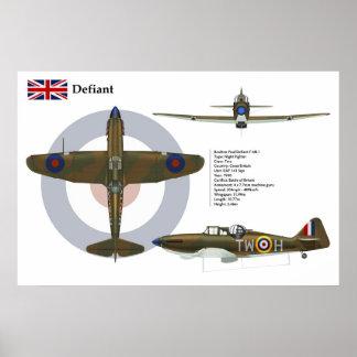 Defiant Mk I 141 Squadron Poster