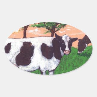 Defiant Purple Cow Oval Sticker