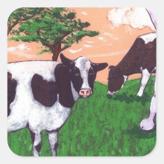 Defiant Purple Cow Square Sticker