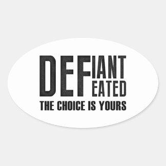 Defiant Oval Sticker