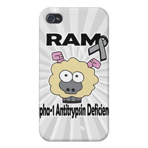 Deficiencia de la alfa-1-antitripsina de RAM iPhone 4 Carcasa