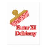 Deficiencia del factor XI Postal