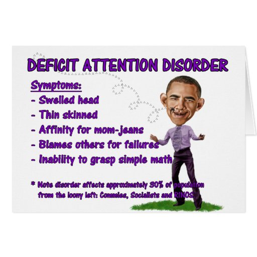 Deficit Attention Disorder Greeting Card