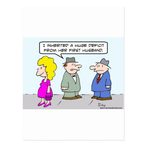 Déficit heredado individuo del primer marido de la tarjetas postales
