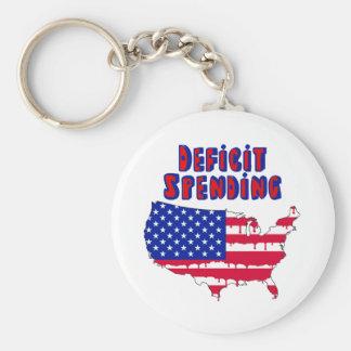 Deficit Spending America Basic Round Button Keychain
