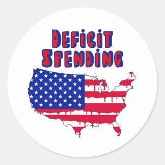 Deficit Spending America Classic Round Sticker