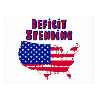Deficit Spending America Postcard