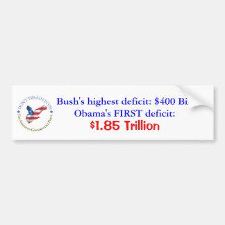 Deficits Bumper Sticker
