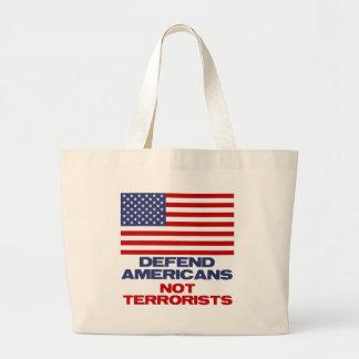Defienda a los americanos - no terroristas bolsas de mano