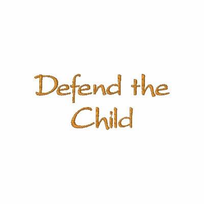 Defienda al niño sudadera bordada con serigrafía