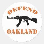Defienda al pegatina de Oakland