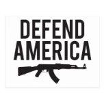 Defienda América AK47 Postales
